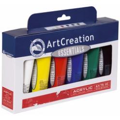 peintureacryliqueartcreation75mlsetde6