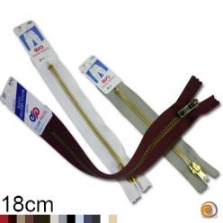 Fermeture éclair laiton  Z14 spécial jean's, 18cm