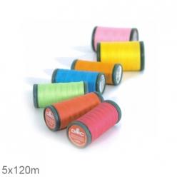 Fil à coudre synthétique 100% polyester DMC -  5x120m