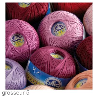ruedufil fil coton pour crochet et tricot p tra gr 5 dmc. Black Bedroom Furniture Sets. Home Design Ideas