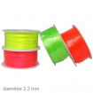 25 m de queue de rat fluo 22 mm