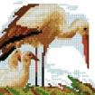 kitbroderaupointdecroix cigogne11x16cm