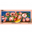 canevas antique debordement de tulipes  25x60cm