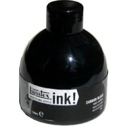 ink! : Encres acryliques extra fines Liquitex Carbon black 150ml
