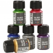peinture glass metal assortiment 6x35 ml
