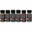 peinture textile color glitter assortiment 6x50 ml