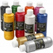 peinture textile color pearl assortiment 10x250ml