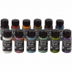 peinture textile color moderne assortiment 12x50 ml