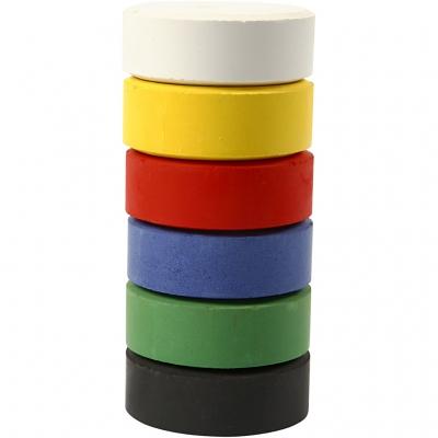 recharge pastille de gouache 44 mm couleurs basiques 6 pi ces creativ company. Black Bedroom Furniture Sets. Home Design Ideas