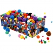 pompons 5 40 mm assortiment 800 pieces