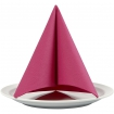 grande serviette de table rose fuschia 40x40 cm 20 pces