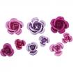 rosesenmtal8 15mmteintesroseviolet27pices