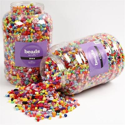 Achat en lot de perle en plastique pour groupe enfants - Perle pour enfant ...