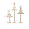 sapins de noel en bois a monter 6 pieces