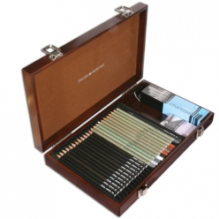 coffret prestige bois artist pencil set