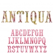 sizzlits alphabet set 12 dies  antiqua capital letters by brenda walton