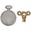 movers shapers magnetic die set 2pk  mini clock key pocket watch by tim holtz