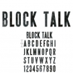 bigz xl alphabet die  block talk by tim holtz