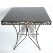 table le caire en metal 80x80cm