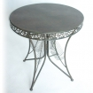 table louxor en metal 70cm