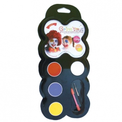 set de maquillage grimtout clown 4 galets