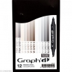 graphitset12marqueurs mixgreycolors