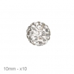lot 10 perles shamballa 10mm cristal