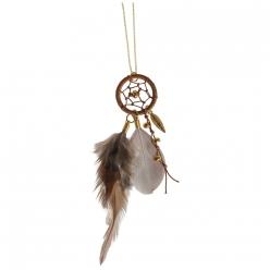 Kit bijoux Capteur de rêves Luna , or et taupe