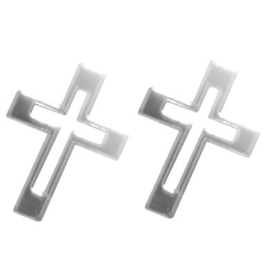 Miroir acrylique autocollant croix argent e rayher for Miroir 2000 croix
