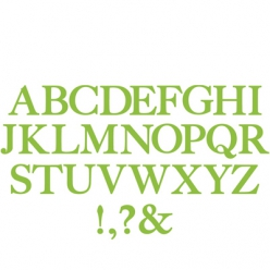 Dies Bigz Sizzix: Alphabet Serif essential Smith